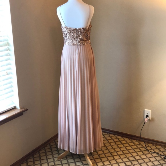 Cachet Dresses Sparkly Formal Blush Colored Gown Poshmark